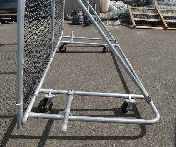 Portable Security fencing wheeled panel