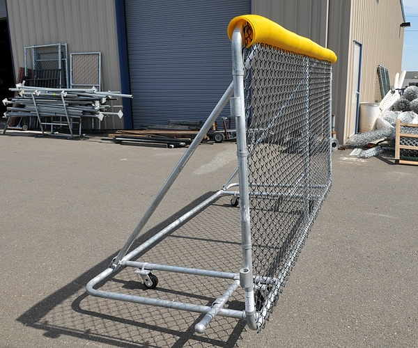 6x10 foot Sportafence security panel with wheels